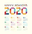 2020 calendar calendar design vector image vector image