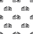 3d movie seamless pattern vector image vector image