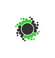 abstrac dot circle icon element vector image vector image