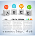 abstract business geometric infographics vector image vector image