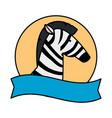 african zebra wild character vector image vector image