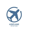 Airplane Logo vector image vector image