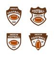 american football or rugby colored badges vector image vector image