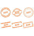 app stamps vector image