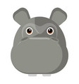 avatar of a hippo vector image