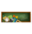 back to school banners with supplies vector image vector image