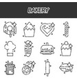 bakery icons set