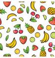 banana cherry lemon lime pineapple strawberry vector image
