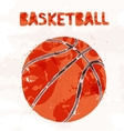 Basketball ball isolated on a white background vector image vector image