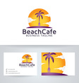 Beach Cafe vector image