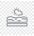 beach concept linear icon isolated on transparent vector image
