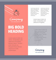 bug business company poster template with place vector image vector image