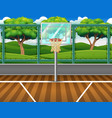 cartoon background of basketball court for game vector image
