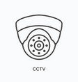 cctv flat line icon outline vector image