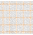 Checkered grey orange pattern vector image vector image