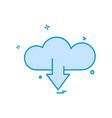 cloud download icon design vector image vector image