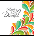 colorful happy Diwali greeting card or poster vector image