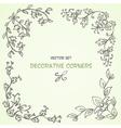 Decorative floral corners vector image