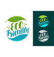 eco friendly logo or label bio natural icon vector image vector image