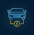 electric car colorful icon ev creative vector image vector image