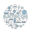electric car round vector image vector image