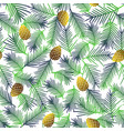 floral seamless pattern with cones vector image vector image