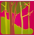 forest in spring vector image vector image