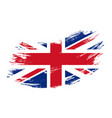 great britain flag grunge brush background vector image