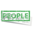 Green outlined PEOPLE stamp vector image vector image