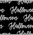 halloween pattern seamless only with lettering vector image