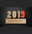 happy new year 2019 text design with paper cut vector image vector image