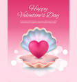 happy valentines day poster on vector image vector image