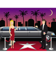 hollywood red carpet hosts vector image vector image