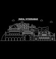 hyderabad silhouette skyline india - hyderabad vector image vector image