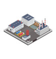 industry plants factory isometric vector image
