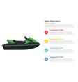 jetski sport transportation infographics template vector image vector image