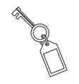 key door isolated vector image