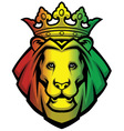 lion rasta head vector image