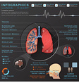 Lungs And Respiratory System Medical Infographic vector image