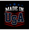made in usa american united states america vector image vector image