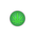 medical cannabis logo round shape 3d cannabis vector image