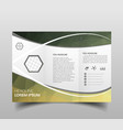 modern tri-fold brochure design template with vector image