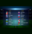 north america soccer cup groups vector image vector image