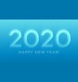 paper cut 2020 line text for celebration design vector image