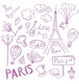 Paris Sketch Symbols Set vector image