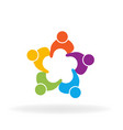 people teamwork friend group vector image vector image