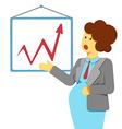 pregnant woman presentation vector image vector image