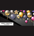 realistic glossy and transparent balloons with vector image