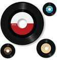 retro 45 rpm record labels vector image vector image