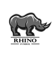 Rhino for the symbol logo labels vector image vector image